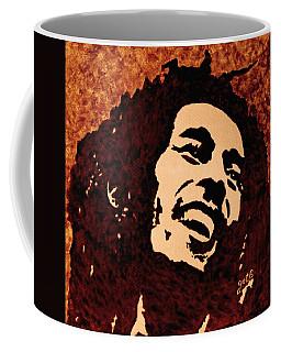 Coffee Painting Bob Marley Coffee Mug by Georgeta  Blanaru