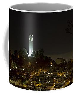 Coit Tower By Night Coffee Mug