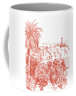 Coit Tower View From Russian Hill San Francisco Coffee Mug