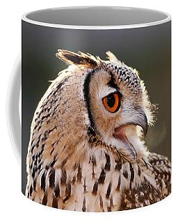 Cold Breathe _ Eagle Owl In The Winter Coffee Mug