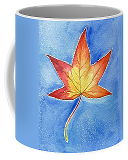 Coffee Mug featuring the painting Cold Fall Sky by Katherine Miller
