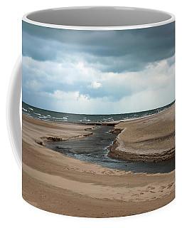Cold Morning At The Beach Coffee Mug