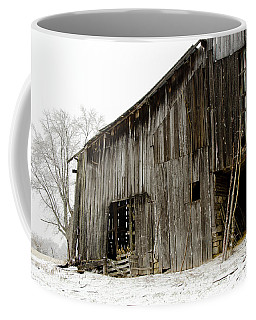 Coffee Mug featuring the photograph Cold Winter At The Barn  by Wilma  Birdwell
