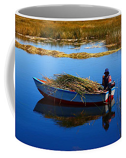 Collecting Reeds Coffee Mug