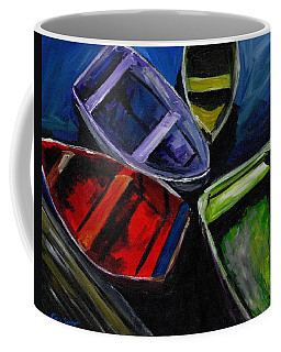 Colliding Skiffs Coffee Mug