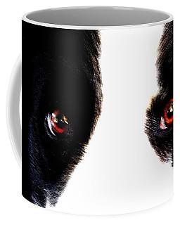 Coffee Mug featuring the digital art Collie Eyes by Aliceann Carlton