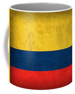 Colombia Flag Vintage Distressed Finish Coffee Mug