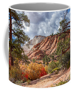 Coffee Mug featuring the photograph Color Competition At Zion National Park by John M Bailey