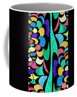 Coffee Mug featuring the digital art Color Dance by Rafael Salazar