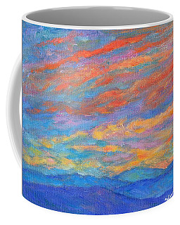 Coffee Mug featuring the painting Color Ripples Over The Blue Ridge by Kendall Kessler