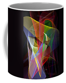 Coffee Mug featuring the digital art Color Symphony by Rafael Salazar