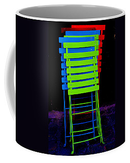Coffee Mug featuring the photograph Colorful Cafe Chairs by Dany Lison