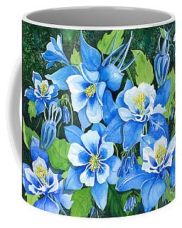 Colorado Columbines Coffee Mug by Barbara Jewell