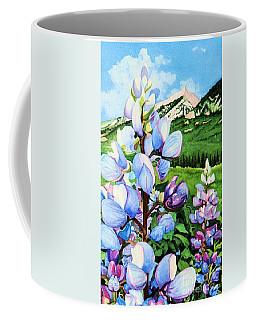 Colorado Summer Blues Close-up Coffee Mug by Barbara Jewell