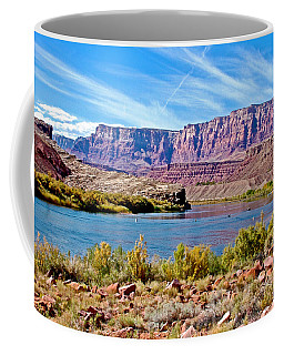 Colorado River Upstream From Boat Ramp At Lee's Ferry In Glen Canyon National Recreation Area-az Coffee Mug