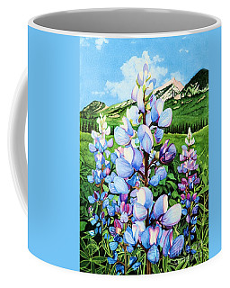 Coffee Mug featuring the painting Colorado Summer Blues by Barbara Jewell