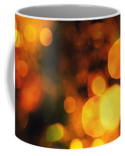 Coffee Mug featuring the digital art Coloured Bokeh Lights by Fine Art By Andrew David