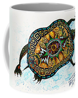 Colored Cultural Zoo C Eastern Woodlands Tortoise Coffee Mug by Melinda Dare Benfield