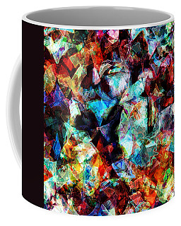 Coffee Mug featuring the digital art Colorful Abstract Design by Phil Perkins