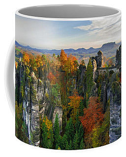 Colorful Bastei Bridge In The Saxon Switzerland Coffee Mug