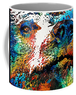 Colorful Bear Art - Bear Stare - By Sharon Cummings Coffee Mug
