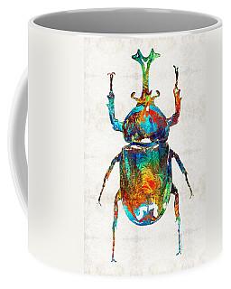 Colorful Beetle Art - Scarab Beauty - By Sharon Cummings Coffee Mug