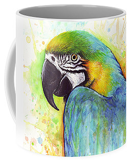 Macaw Watercolor Coffee Mug