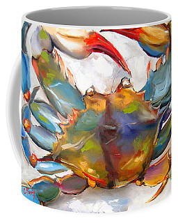 Colorful Blue Coffee Mug by Carole Foret