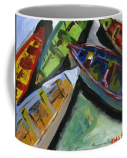 Colorful Boats Coffee Mug