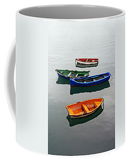 colorful boats on Santurtzi Coffee Mug
