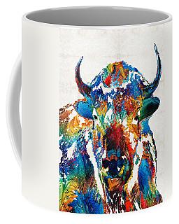 Colorful Buffalo Art - Sacred - By Sharon Cummings Coffee Mug