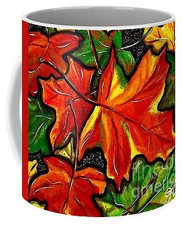 Coffee Mug featuring the painting Colorful Carpet by Jackie Carpenter