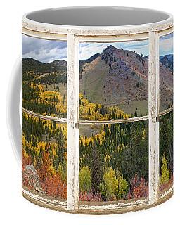 Colorful Colorado Rustic Window View Coffee Mug
