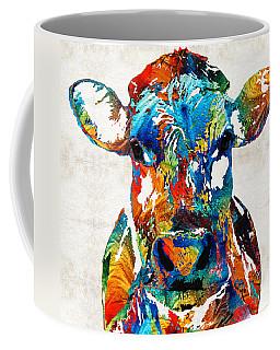 Colorful Cow Art - Mootown - By Sharon Cummings Coffee Mug