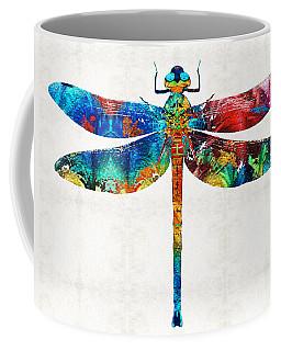 Colorful Dragonfly Art By Sharon Cummings Coffee Mug