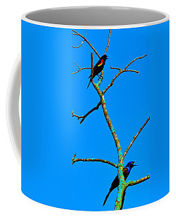 Coffee Mug featuring the photograph Colorful Duet by Zafer Gurel