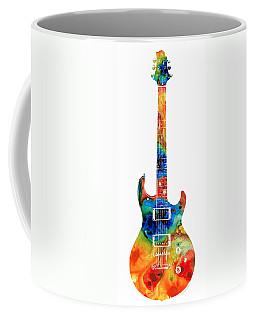 Colorful Electric Guitar 2 - Abstract Art By Sharon Cummings Coffee Mug