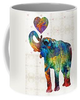 Colorful Elephant Art - Elovephant - By Sharon Cummings Coffee Mug