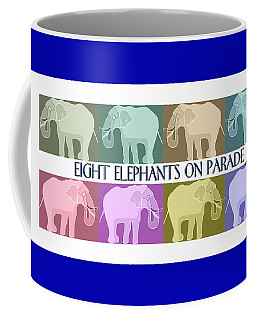 Colorful Elephants Coffee Mug by Marian Cates