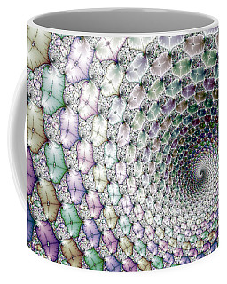 Colorful Fractal Spiral Wide Horizontal Format Coffee Mug