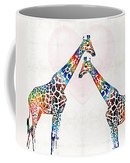 Colorful Giraffe Art - I've Got Your Back - By Sharon Cummings Coffee Mug