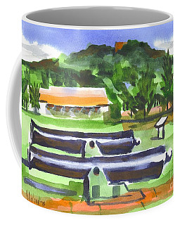 Coffee Mug featuring the painting Colorful Green Fort Davidson by Kip DeVore