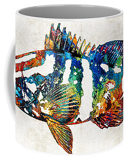 Colorful Grouper 2 Art Fish By Sharon Cummings Coffee Mug