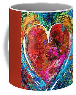 Colorful Heart Art - Everlasting - By Sharon Cummings Coffee Mug