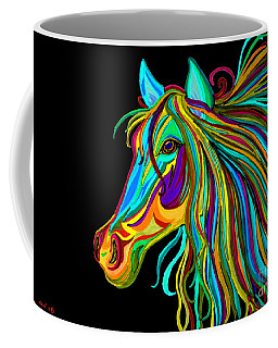 Colorful Horse Head 2 Coffee Mug by Nick Gustafson