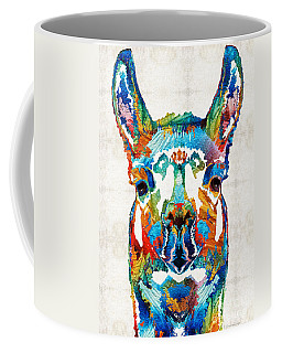Colorful Llama Art - The Prince - By Sharon Cummings Coffee Mug