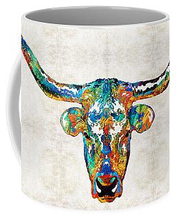 Colorful Longhorn Art By Sharon Cummings Coffee Mug