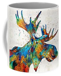 Colorful Moose Art - Confetti - By Sharon Cummings Coffee Mug
