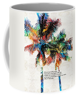 Colorful Palm Trees - Returning Home - By Sharon Cummings Coffee Mug