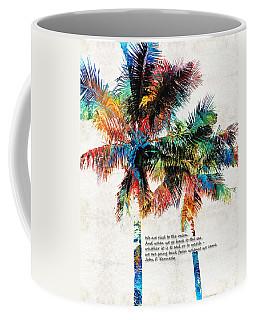Colorful Palm Trees - Returning Home - By Sharon Cummings Coffee Mug